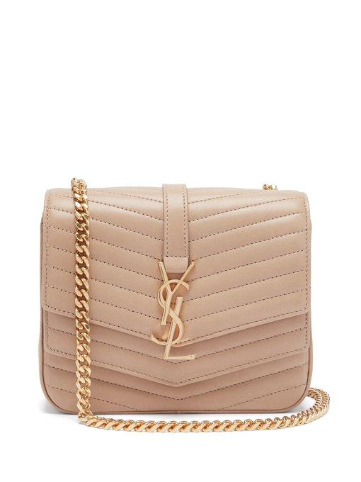 143e5f04ee09 Saint Laurent - Sulpice Small Leather Shoulder Bag - Womens - Nude ...