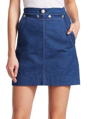 0adc8e8c6 Rag & Bone Sidney Denim Sailor Skirt In Bee | ModeSens