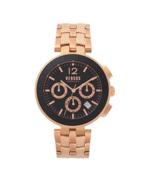 Versace Logo Chronograph Bracelet Watch, 44Mm In Black