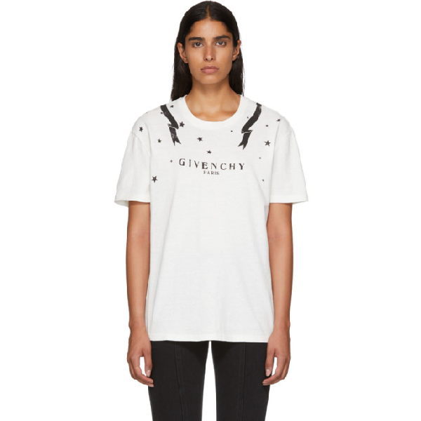 5fc79cfb0 Givenchy Gemini Back Graphic Tee In White | ModeSens