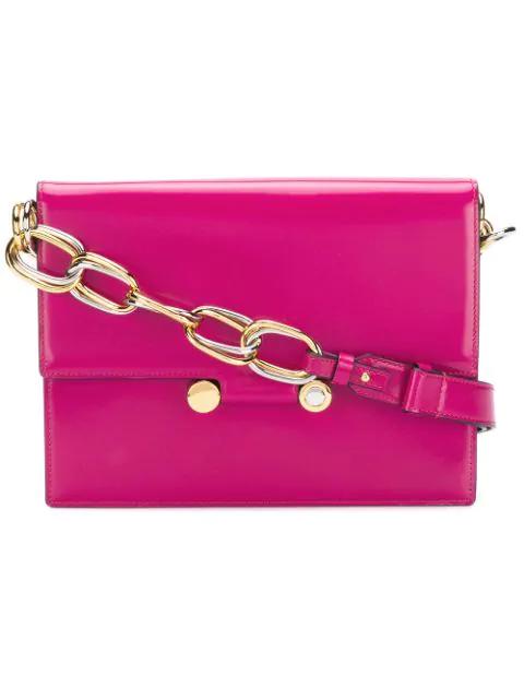 Marni Chunky Chain Shoulder Bag - Pink
