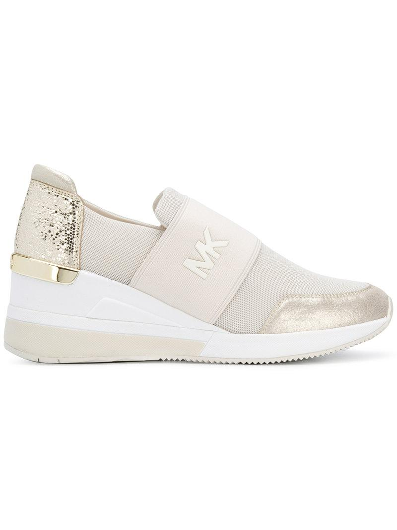 359597abdc141b Michael Michael Kors Felix Sneakers - Neutrals   ModeSens