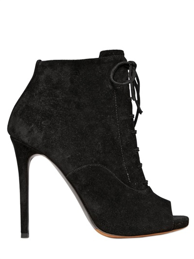 Tabitha Simmons Woman Pace Lace-Up Velvet Ankle Boots Black
