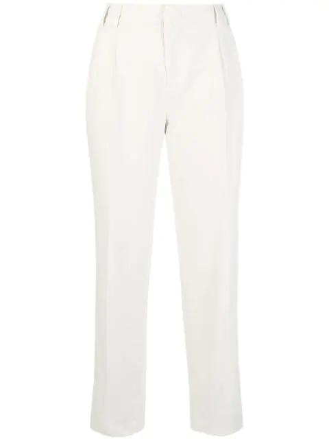 Aspesi High-waist Straight Trousers In White