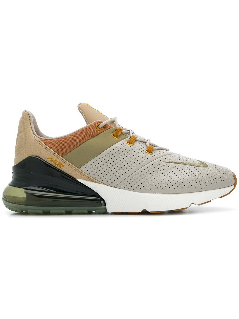 691150aa1c Nike Men's Air Max 270 Premium Leather Lace Up Sneakers In Nude & Neutrals