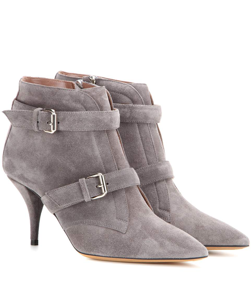 Tabitha Simmons Fitz 75 Suede Ankle Boots In Grey