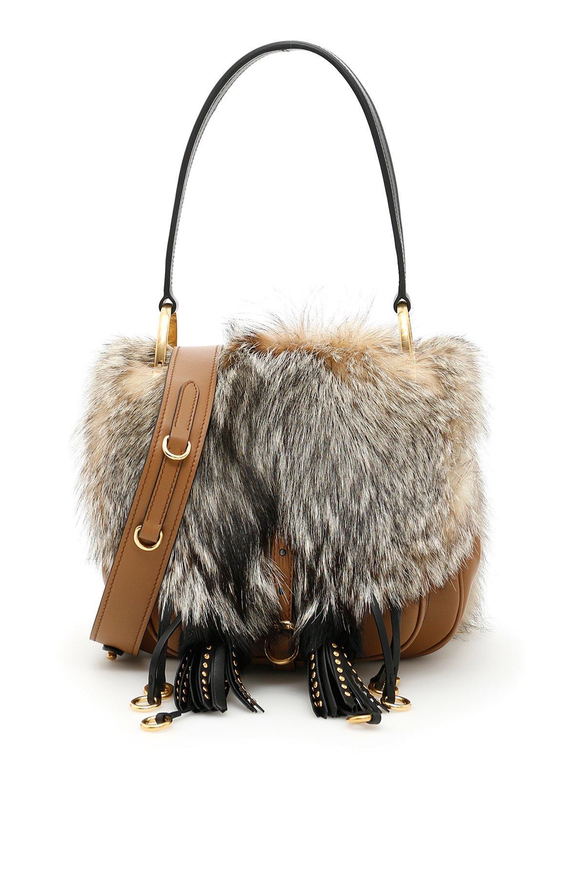 36969104195bec Prada Corsaire Shoulder Bag In Beige | ModeSens