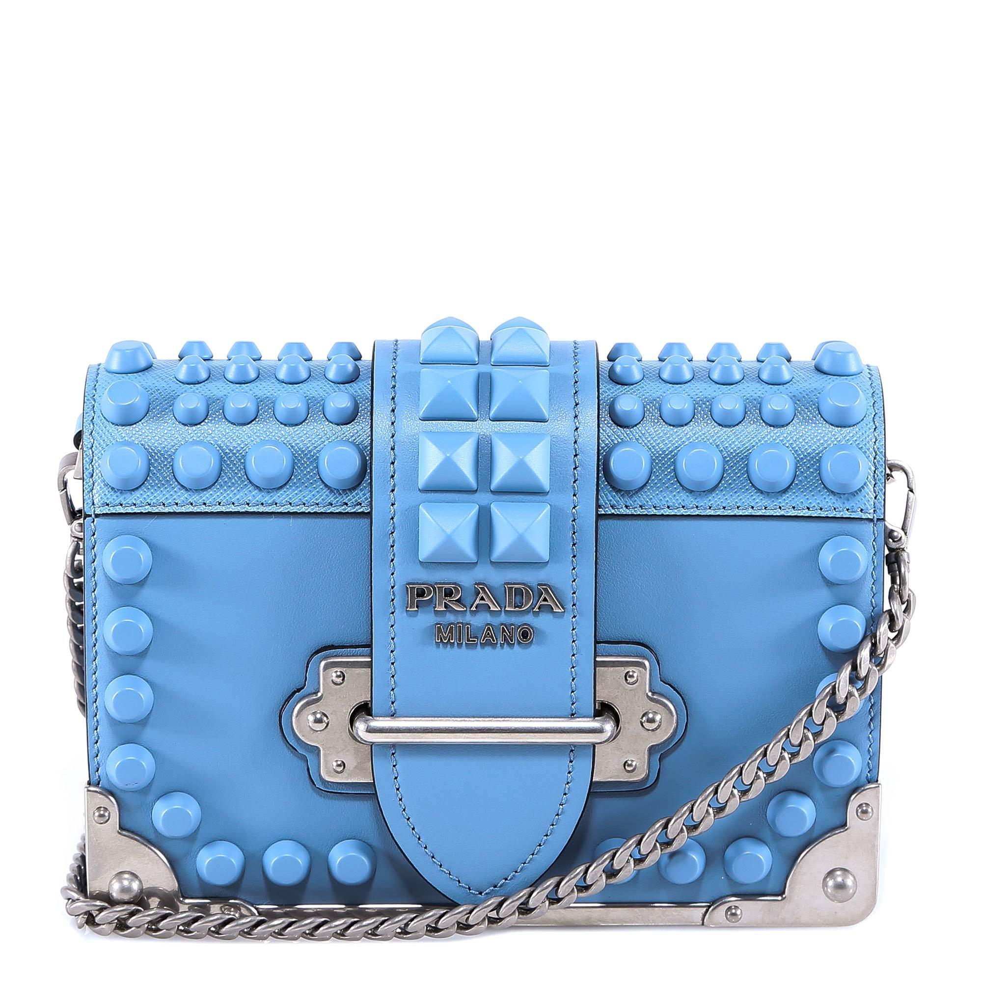 a58df221a79a Prada Cahier Shoulder Bag In Blue. CETTIRE