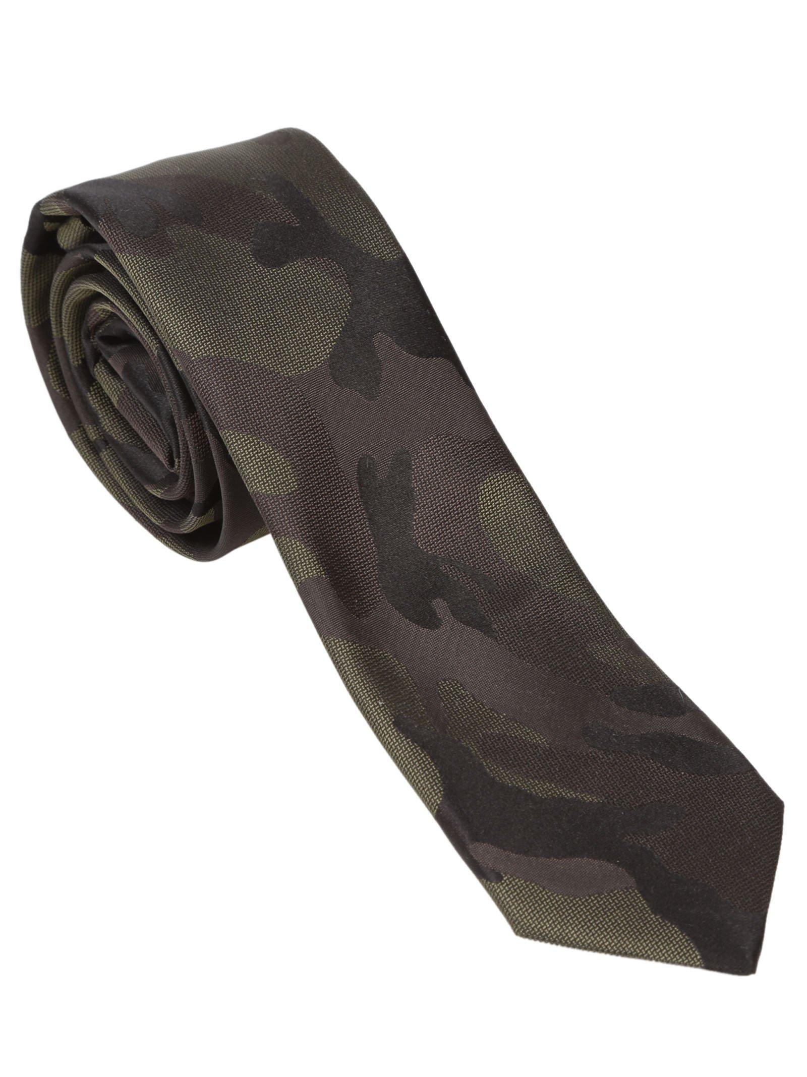 Valentino Tonal Camouflage Tie In Multi