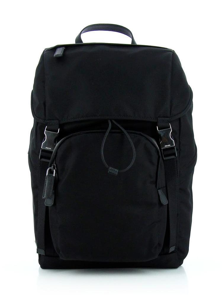 c900e2e683be58 Prada Front Zip Backpack In Black | ModeSens