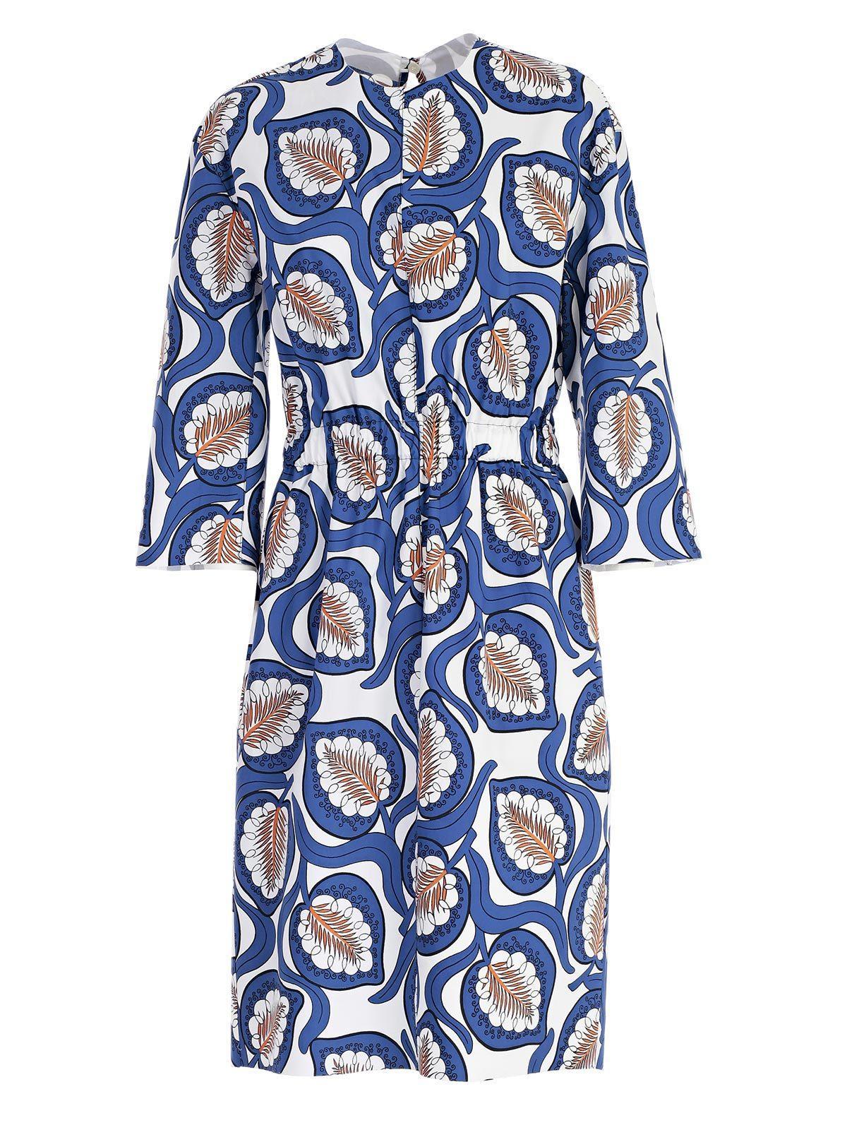 04523510fbadbd Marni Leave Print Dress In Multi | ModeSens