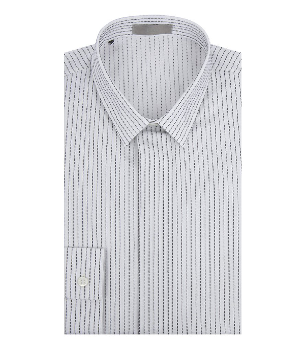 Dior Homme Stitch Detailing Cotton Shirt In 41 Cm