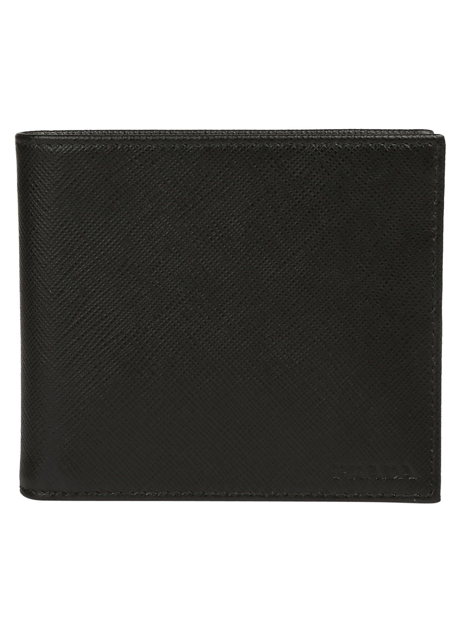 9885ec131536 Prada Embossed Logo Bifold Wallet In Black | ModeSens
