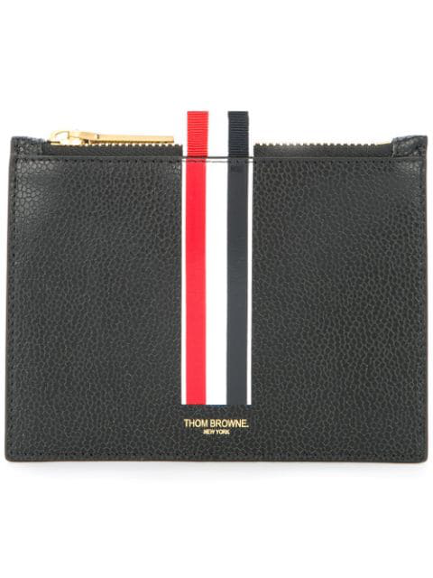 Thom Browne Small Leather Coin Purse In Black