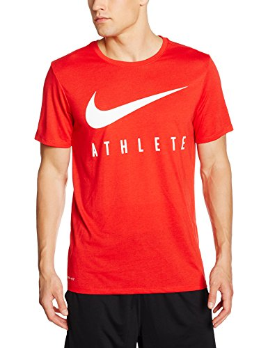 bc559dcaf Nike Mens Swoosh Athlete T-Shirt In University Red/White | ModeSens