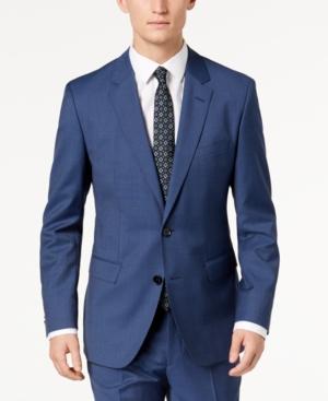 f8b8d2c2 Hugo Boss Hugo Men's Modern-Fit Navy Micro-Tic Suit Jacket | ModeSens