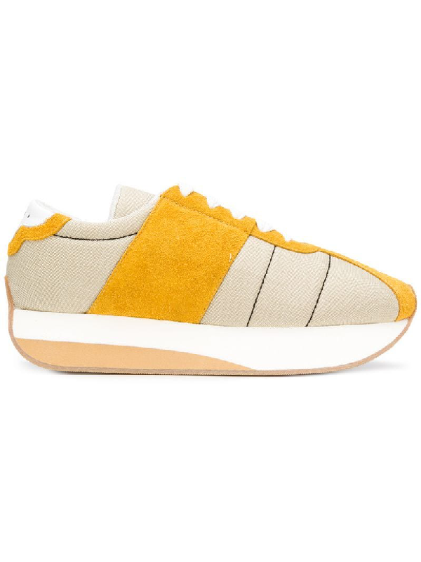 f0d7086c314 Marni Platform Sneakers With Suede In Neutrals