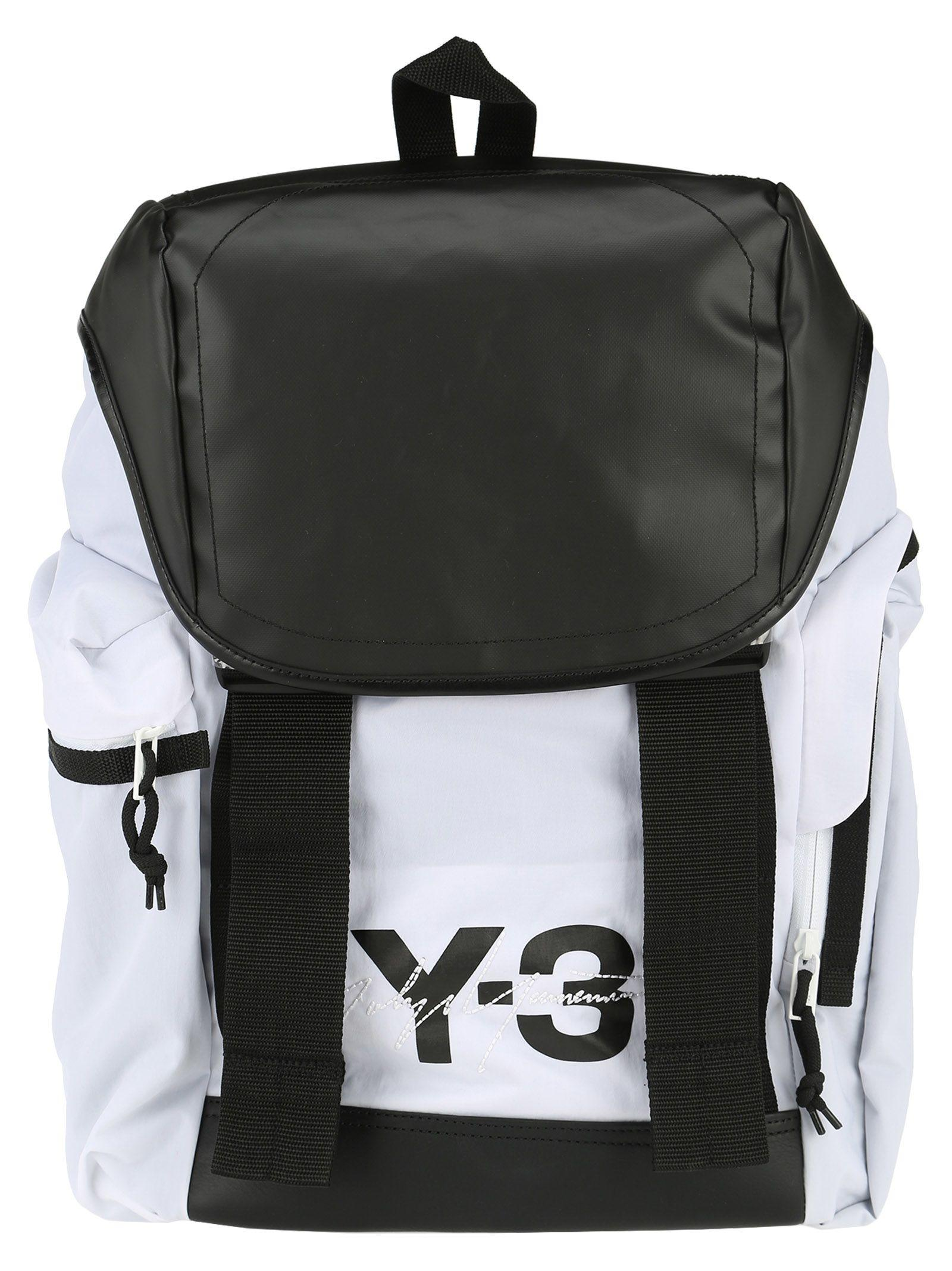 ebe02d1f7a82 Y-3 Adidas Y3 Backpack In White