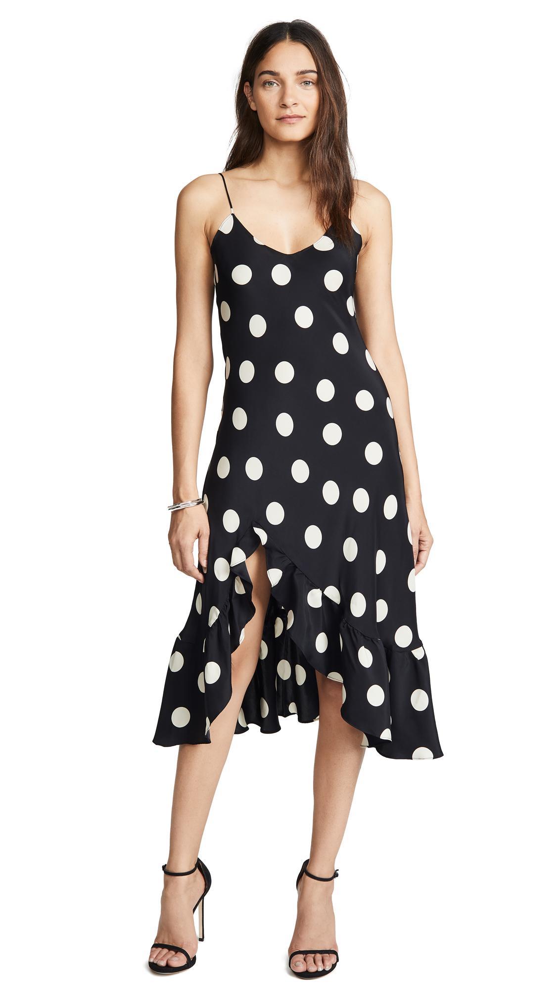 2da3311821b59 Emerson Thorpe Macy Silk Flounce Dress In Polka Dot   ModeSens