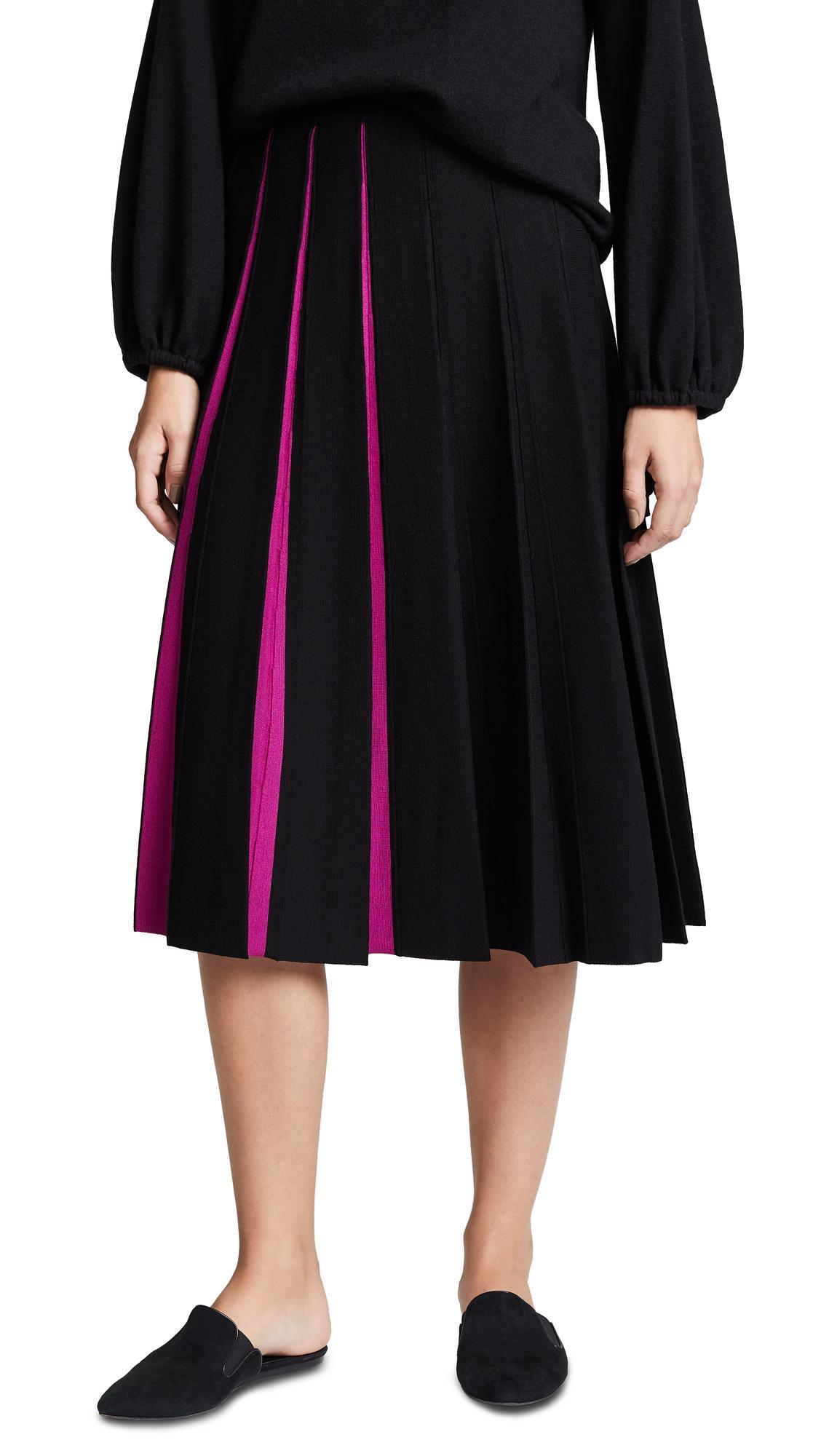 9e90fcc87d Tse Cashmere Pleated Midi Skirt In Black/Ultraviolet | ModeSens