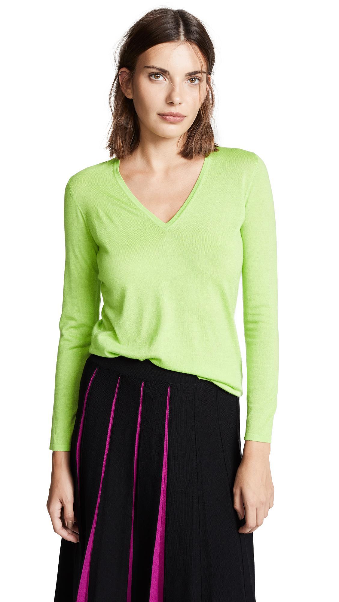 5cc794a69b Tse Cashmere Cashmere V Neck Sweater In Green | ModeSens