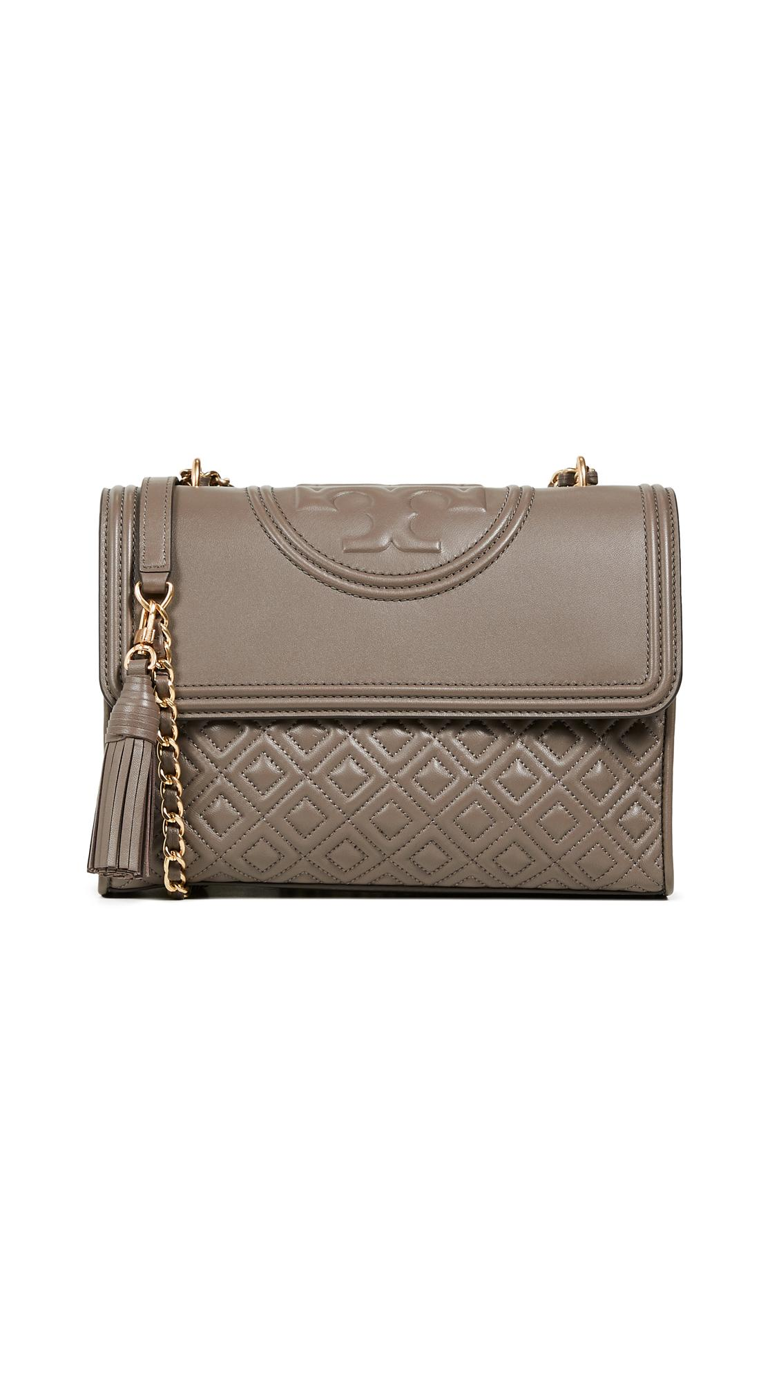 2c4d1953863 Tory Burch Fleming Convertible Shoulder Bag In Silver Maple | ModeSens