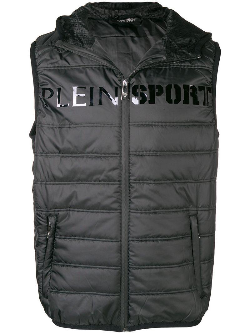 e8143f454155 Plein Sport Logo Print Puffer Vest - Black