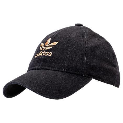 3da171a8 Adidas Originals Women's Originals Relaxed Plus Denim Strapback Hat, Black