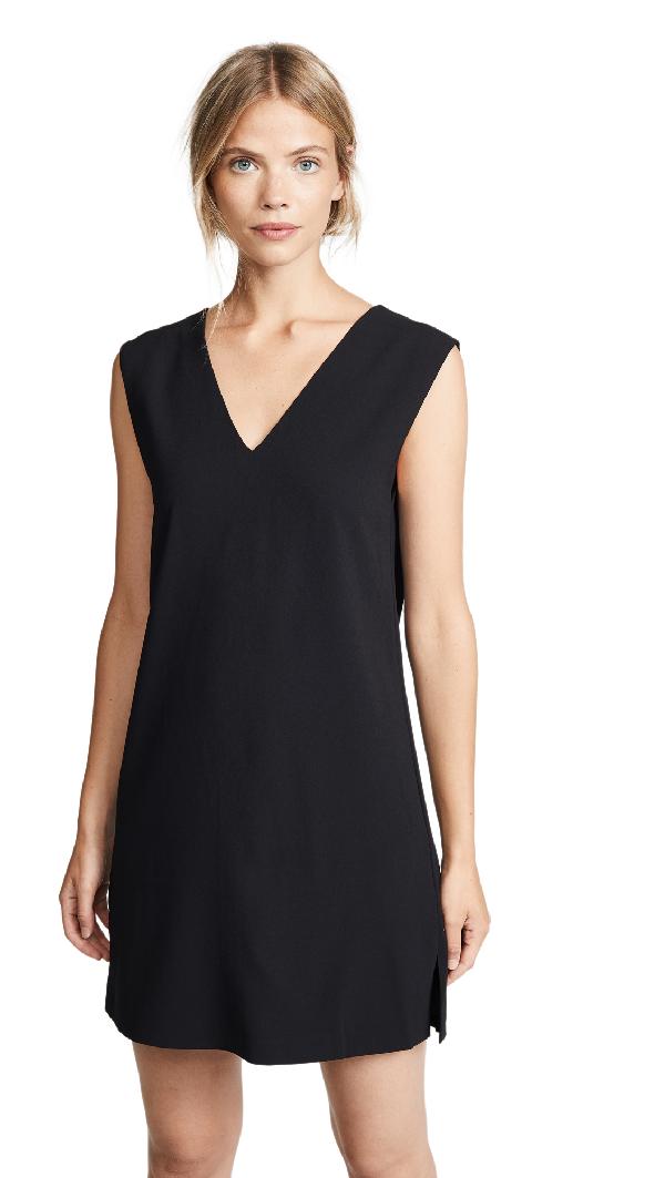 7107b1212394 Alice And Olivia Carita Short-Sleeve Tie-Back Shift Dress In Black ...