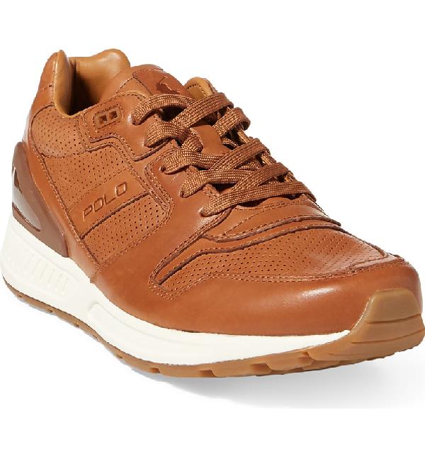 31eaad8ba91 Polo Ralph Lauren Men S Train 100 Sneakers Men S Shoes In Brown ...