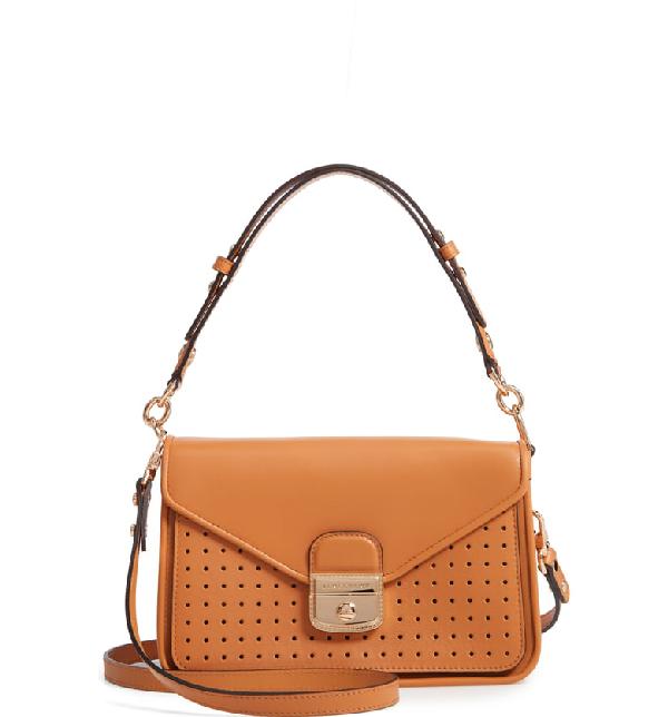 Mademoiselle Calfskin Leather Crossbody Bag - Orange In Honey