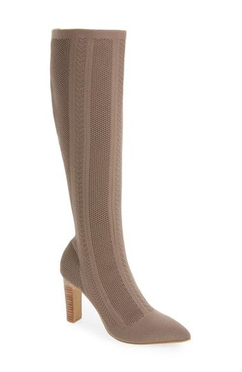 Charles By Charles David Davis Stretch Over-the-knee Boots In Taupe