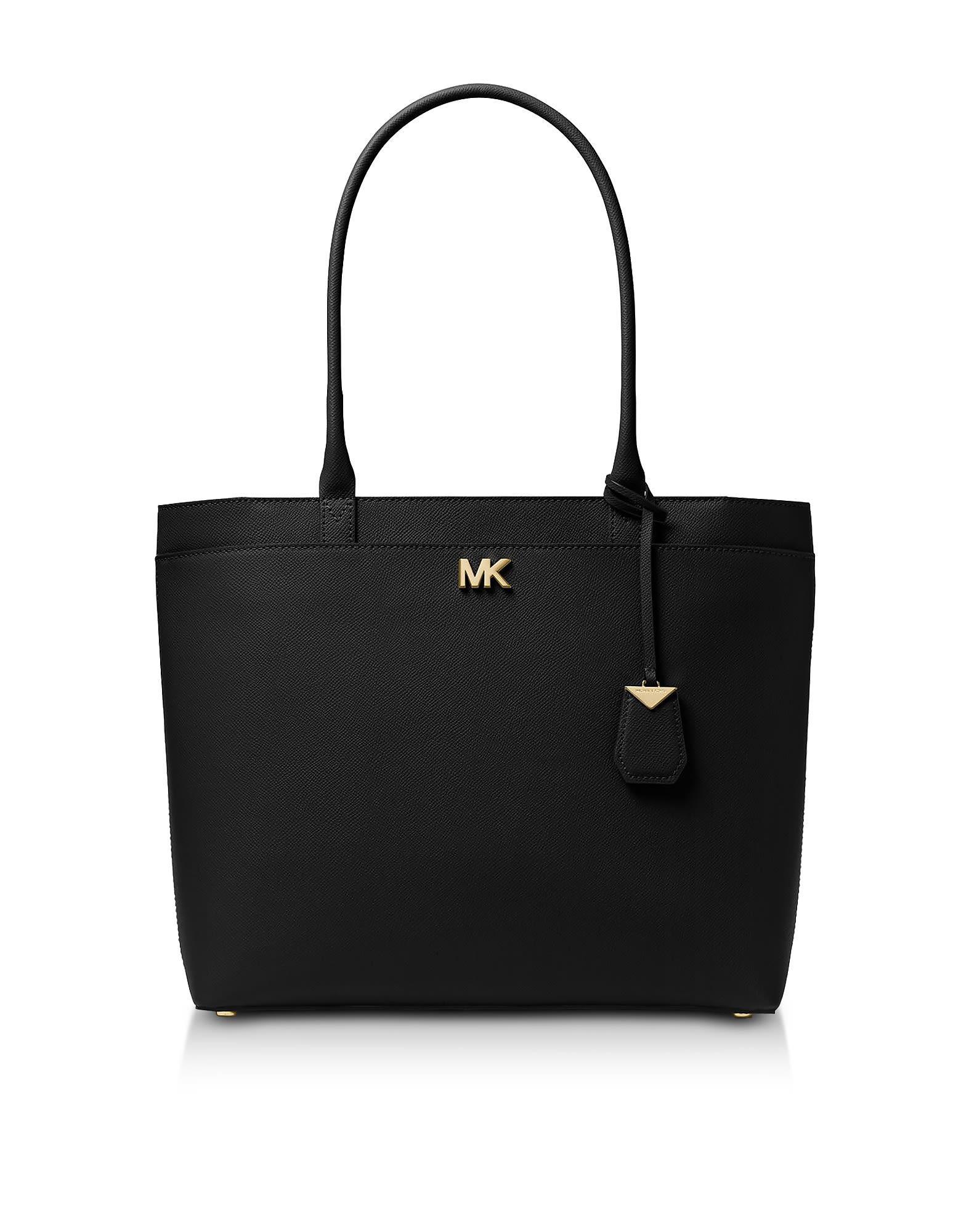 0ed24b17bb2d Michael Kors Maddie Large Crossgrain Leather Tote In Black   ModeSens