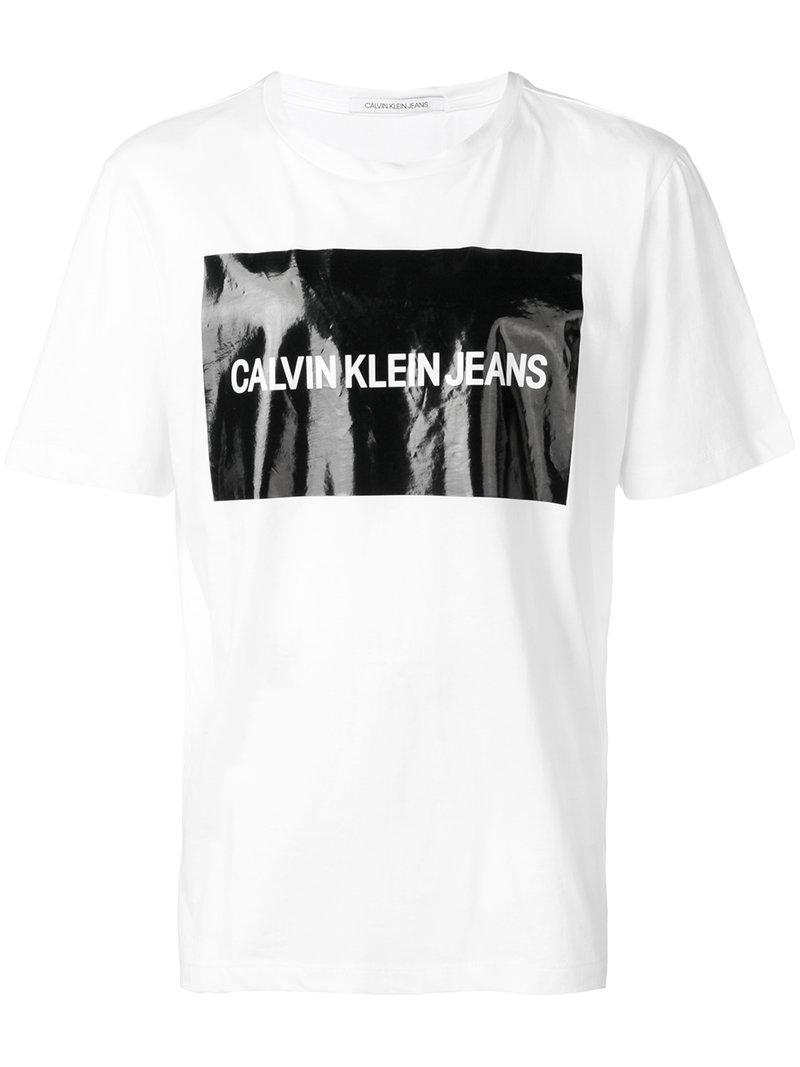 e826aefbfe17e8 Calvin Klein Jeans Logo Print T-Shirt - White | ModeSens