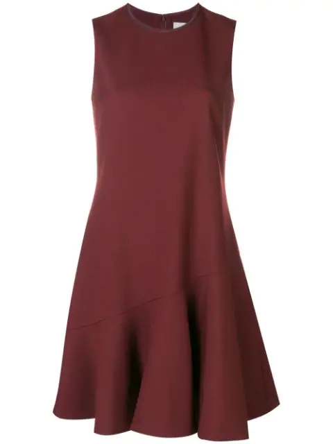 Victoria Victoria Beckham Short Flared Dress In Red