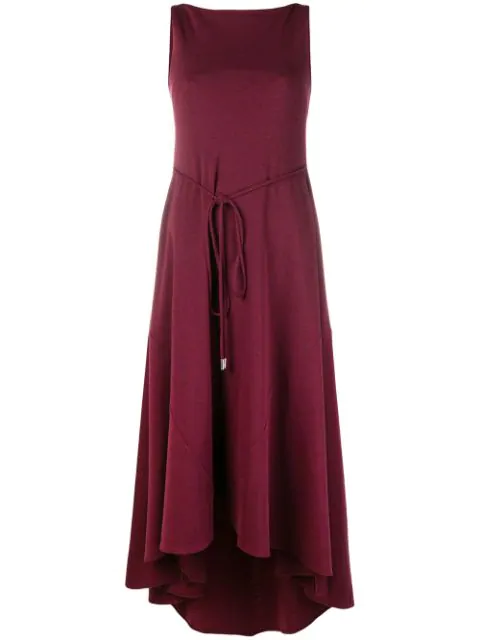 Dsquared2 Fine Knit Midi Dress In Red