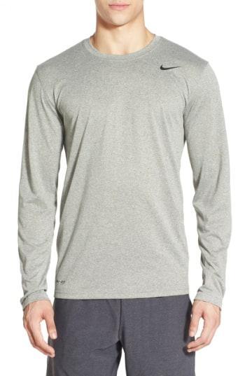 3c663444ad6591 Nike 'Legend 2.0' Long Sleeve Dri-Fit Training T-Shirt In Dark Grey ...