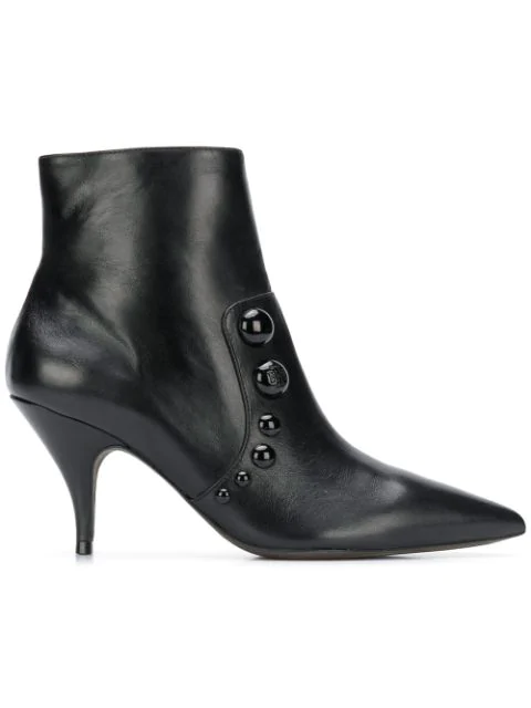 Tory Burch Women's Georgina Pointed Toe Studded Booties In Black