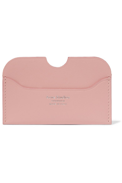 Acne Studios Elmas S Leather Cardholder In Pastel Pink