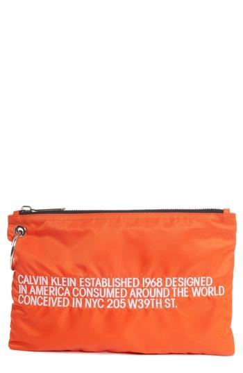 cd568617e99 Calvin Klein 205W39Nyc Established Small Zip Pouch - Orange In Black ...