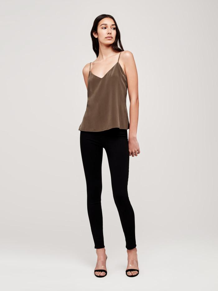 0476b23d11d526 L Agence Jane Camisole Tank In Dark Olive