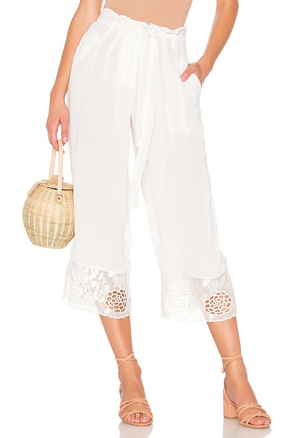 House Of Harlow 1960 X Revolve Dewi Pant In White. In Ivory