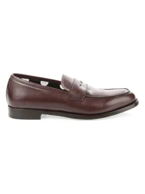 d60f8b926a7 Paul Smith Wolf Penny Loafers In Bordeaux