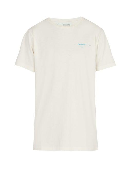 Off-White Gradient Cotton T-Shirt In White