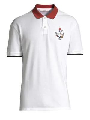 0dc9f62c Bally Men's Animals Contrast-Trim Polo Shirt, White In Bone | ModeSens