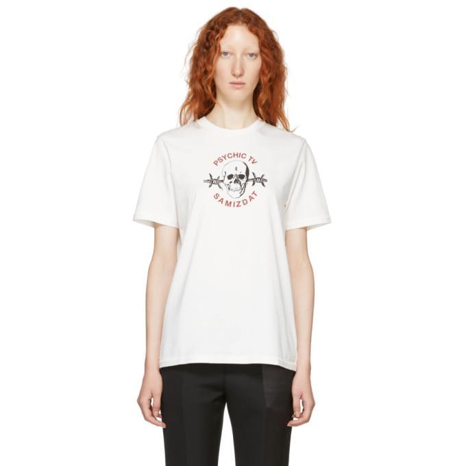 Yang Li Ssense Exclusive White Samizdat Skull T-shirt In 01 White