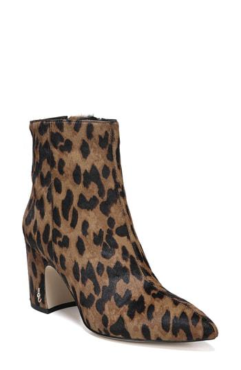 2062a477462 Sam Edelman Women s Hilty Leopard Print Calf Hair Booties In Leopard ...