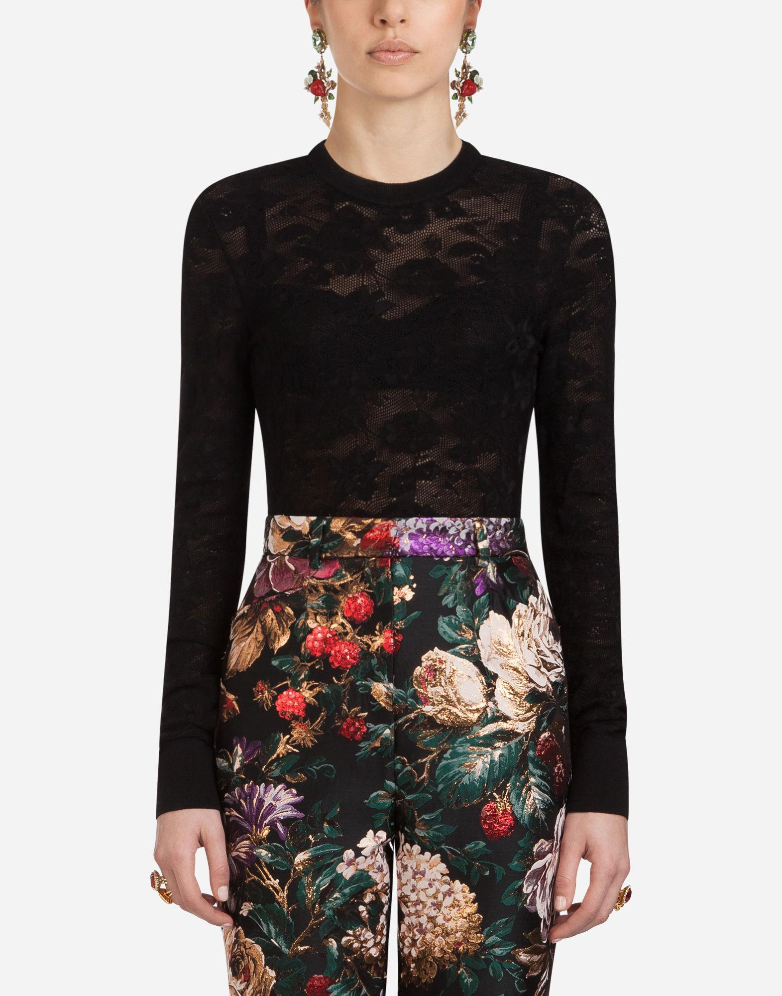 Dolce & Gabbana Wool And Viscose Knit In Black