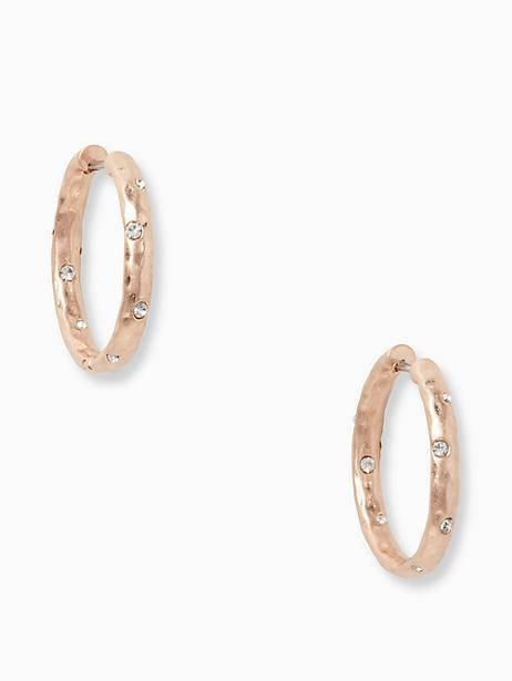 c2776dcc43f87 Kate Spade Elegant Edge Huggie Earrings In Clear/Gold | ModeSens