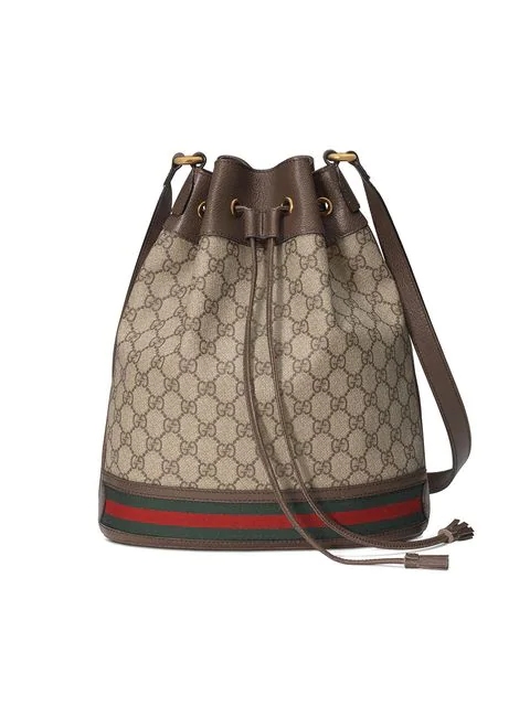 ce929466c Gucci Ophidia Gg Supreme Canvas Drawstring Bucket Bag In Neutrals ...